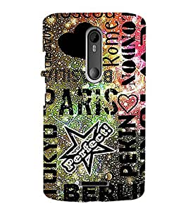 iFasho water Drop on Colurful love and city names Back Case Cover for Motorola MOTO X3