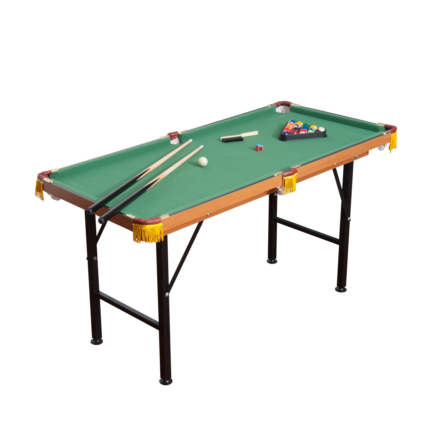 Pool Enthusiasts Who Cannot Afford A Full Size Pool Table Or Simply Have No  Room For It Could Simply Get The HomCom Folding Miniature Billiards Pool  Table.