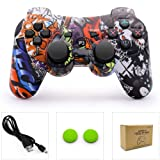 dainslef PS3 Controller Wireless Dualshock 3 PS3 Remote Ps3 Gamepad Best PS3 Joystick Gift for Kids Controller Bluetooth Sixaxis Gamepad for Playstation 3 with Data with Charge Cable (Horde) New (Color: Horde)