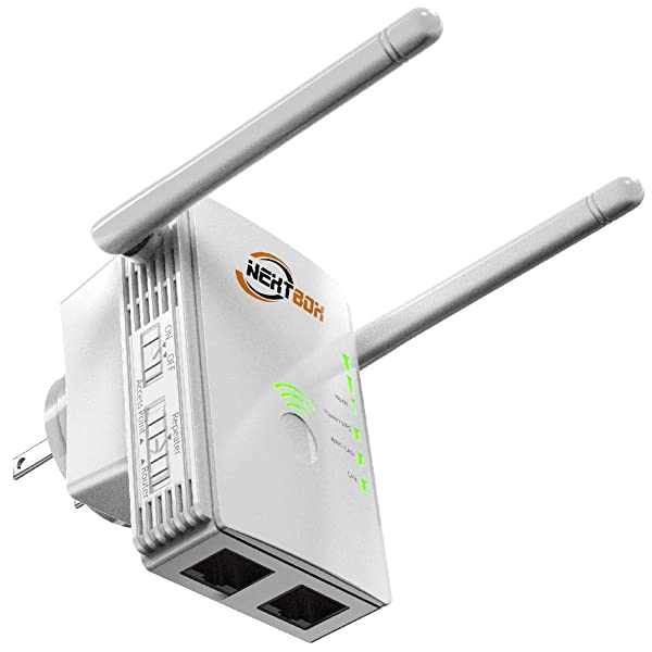 [Upgraded 2020] WiFi Extender 300 Mbps with WPS Internet Signal Booster - Wireless Repeater 2.4GHz Band to 300 Mbps - Range Network Compatible with Alexa, Extends WiFi Coverage to Smart Home Devices (Color: White)