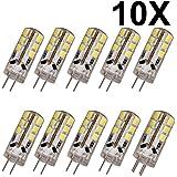 ELINKUME 10x G4 LED Stiftsockel 2.5Watt Birne DC12V 24 SMD 2835 Sparlampe Warmweiß. Sicherzustellen, dass die Produkte reibungslos funktionieren, benutzen Sie bitte DC12V LED Transformator.