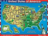 USA Map Sound Wooden Puzzle by Melissa and
