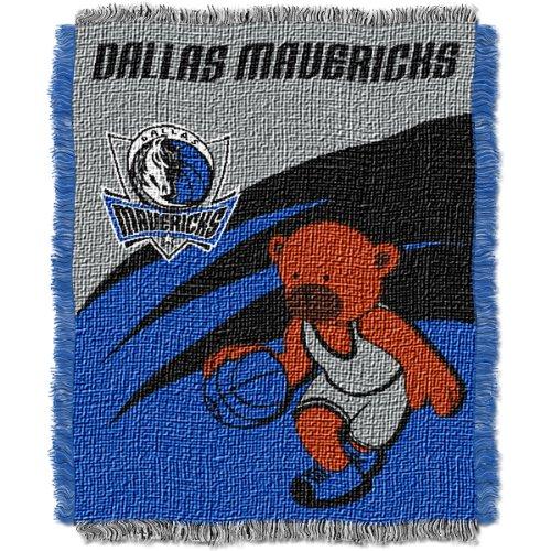 NBA Dallas Mavericks 36-Inch-by-46-Inch Woven Jacquard Baby Throw