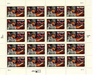 Bear Bryant 20 x 32 cent U.S. Postage Stamps 1997
