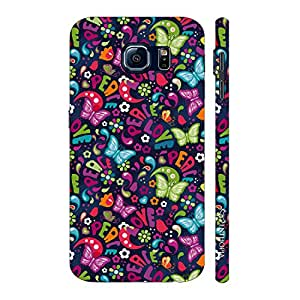 Enthopia Designer Hardshell Case Love Peace N Butterflies Back Cover for Samsung Galaxy S7 Plus