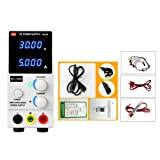 Digital DC Power Supply Adjustable Switching Regulated Power Supply DC Power Supply Variable 0-30V 0-5A with Alligator Leads Universal Tester Probe Leads Kit for Phone Repair (MCH-K303D, 110V) (Color: 110V, Tamaño: MCH-K303D)