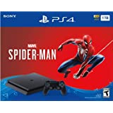 Newest Flagship Sony PlayStation 4 PS4 1TB Slim Console Marvel's Spider-Man Bundle - 1TB Hard Drive Incredible Games Slim Design DualSHock 4 Wireless Controller