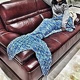 Novo Home Blue Mermaid Tail Blanket B,Teen Thick Mermaid Tail Blanket Snuggle Mermaid