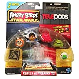 Angry Birds Star Wars Telepods Rebels Vs. Villains 6 Pack - Jabba The Hutt, Tusken Raider, Han Solo
