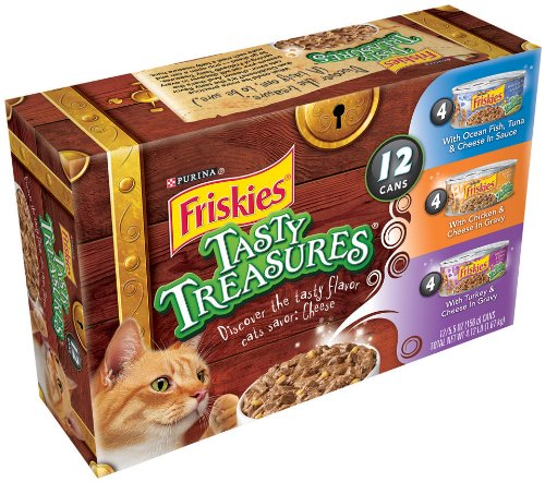 Image of Friskies Tasty Treasures Cat Food Variety Pack, 4.12-Pound (Pack of 2)