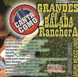 Pistas: Canta Como Grandes De La Balada Ranchera