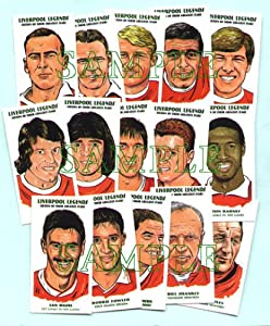 Liverpool Fc Legends Card Set by PHILIP NEILL GRAPHICS