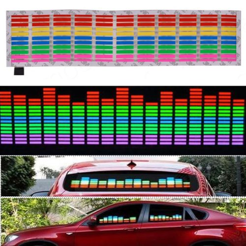 Image® Car Vehicle Sound Music Rhythm Activated Equalizer Glow Flashing Decorative Led Light Stickers 90 X 10Cm Multicolor