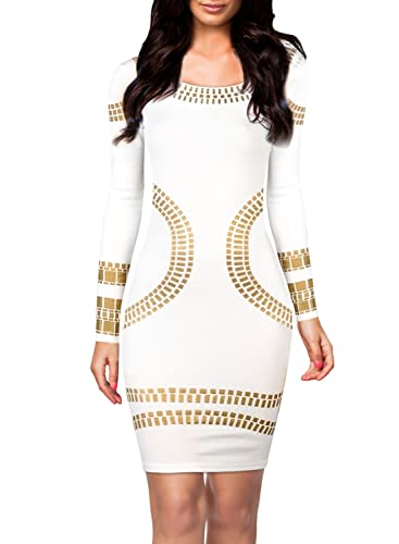 Miusol® Women's Cut out Long Sleeves Kim Egypt Gold