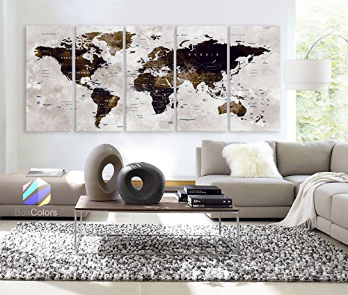 xlarge-30x-70-5-panels-30x14-ea-art-canvas-print-watercolor-map-world-countries-cities-push-pin-trav