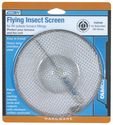 Camco 42143 Flying Insect Screen - FUR 400 (Camper Furnace Vent Cover compare prices)