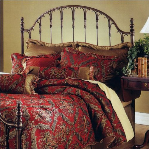 Hillsdale Furniture 1239Hfq Tyler Headboard Without Rails, Full/Queen, Antique Bronze front-1074790