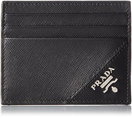 [プラダ] PRADA メンズ 名刺入れ サフィアーノ カードケース 2M1223QME 002 (ブラック)
