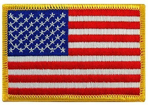 USA American Flag Embroidered IRON-ON Patch - 3.5