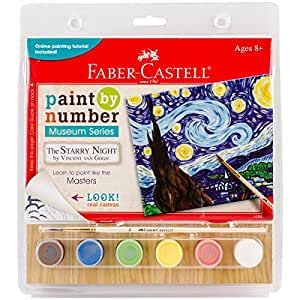 Faber Castell Faber Castell Paint By Number Museum Series The Starry Night By Vincent Van Gogh