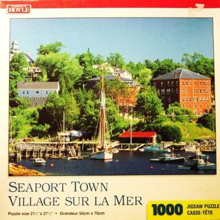 Seaport Town Village Sur La Mer 1000 Piece Jigsaw Puzzle