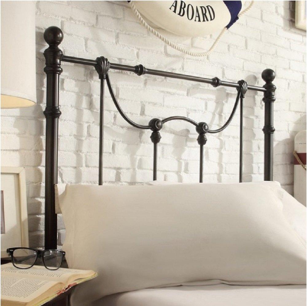 Bellwood Dark Bronze Victorian Iron Metal Bed Queen Size
