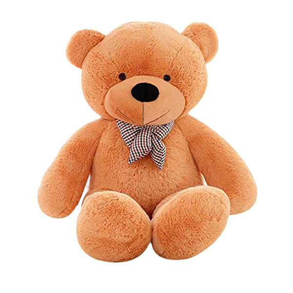 MorisMos Giant Cute Soft Toys Teddy Bear for Girlfriend Kids Teddy Bear (Light Brown, 55 Inch) (Color: Brown, Tamaño: 55 Inch)