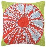 Peking Handicraft Hook Pillow, Sea Urchin, 18-by-18-Inch