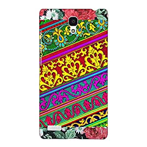 Jugaaduu Floral Pattern Back Cover Case For Redmi Note