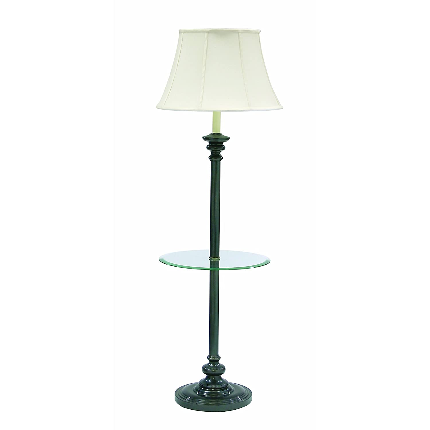 Traditional Floor Lamp With Attached Table