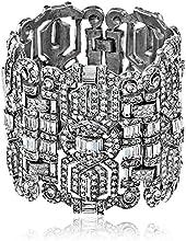 "Ben-Amun Jewelry ""Deco"" Silver-Tone Crystal Bracelet"