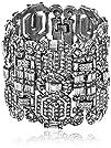 "Ben-Amun Jewelry ""Deco"" Silver-Tone C…"