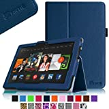 "Fintie Amazon All-New Kindle Fire HDX 8.9"" Folio Case Cover Slim Fit Leather Cover - Navy (will only fit Kindle Fire HDX 8.9 Tablet 2013 Model)"