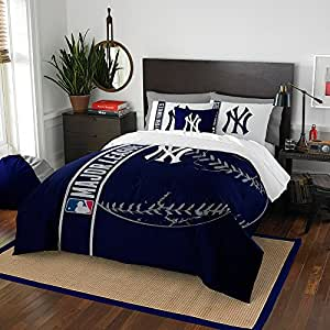 Amazon Com New York Yankees Ny Comforter And Sham Bed
