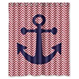 "Yestore Superior Custom Anchor WaterProof Polyester Fabric 60"" x 72"" Shower Curtain"