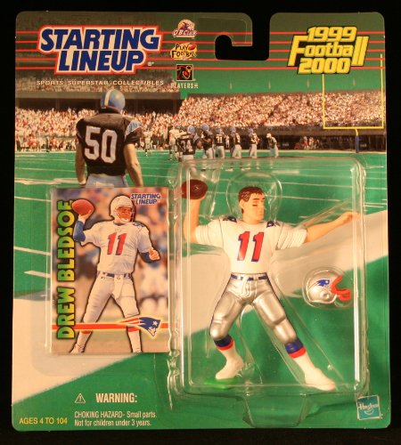 DREW BLEDSOE / NEW ENGLAND PATRIOTS 1999-2000 NFL Starting Lineup Action Figure & Exclusive NFL Collector Trading Card