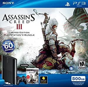PS3 500 GB Assassin's Creed III Bundle