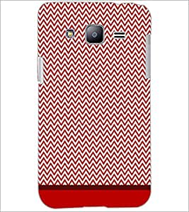 PrintDhaba Zig Zag Pattern D-1697 Back Case Cover for SAMSUNG GALAXY J2 (Multi-Coloured)