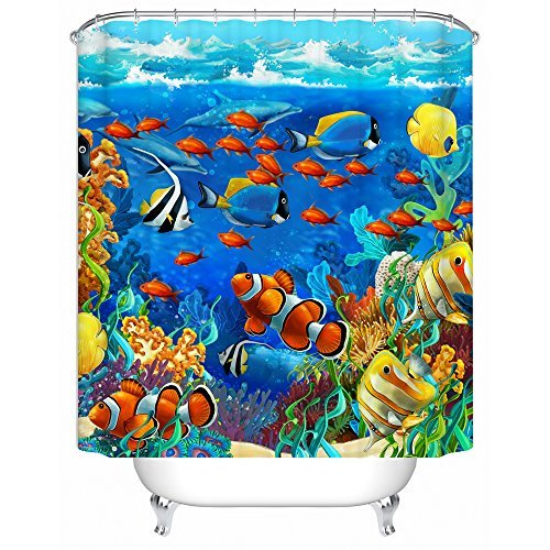 Sea World Waterproof Polyester Shower Curtain Bath Decor Curtain 72 x 72 by Never Stop Dreaming Shower Curtain