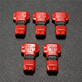 Alcoa Prime 5pcs 2 Pin 2 Way DC/AC 300V 10A Universal Compact Wire Wiring Connector T SHAPE Conductor Terminal...