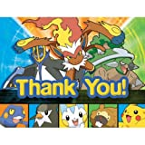 Image of Pokemon Invitations and Thank You Notes 8ct