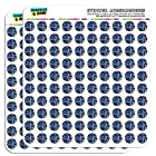 Blue Computer Motherboard Processor CPU Memory 1/2 (0.5) Scrapbooking Crafting Stickers