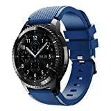 BESSKY Gear S3 Frontier Watch Band, Soft Silicone Replacement Sport Strap for Samsung Gear S3 Frontier(140-251mm) (Navy) (Color: Navy, Tamaño: Samsung Gear S3 Frontier)