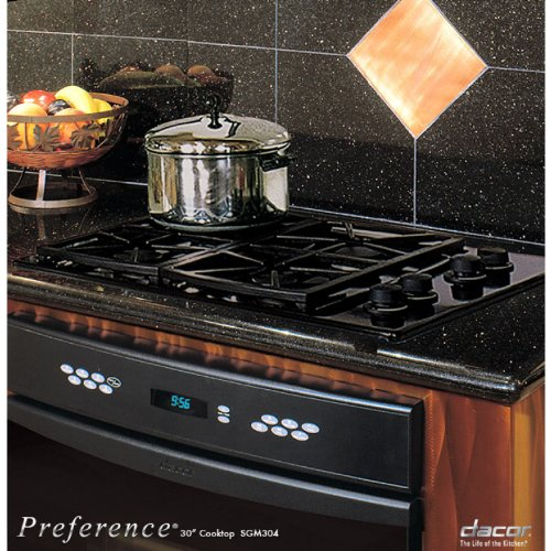 Dacor Preference Series 46 Inch Black Gas Cooktop - Sgm466Blp front-481135
