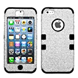 Product B00A967FY4 - Product title MYBAT IPHONE5HPCTUFFDMS020NP Premium TUFF Diamante Case for iPhone 5 - 1 Pack - Retail Packaging - Silver Diamante/Black