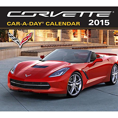 2015 CORVETTE Car-A-Day /Boxed/ Desk Calendar with BONUS HOT WHEEL TOY CAR