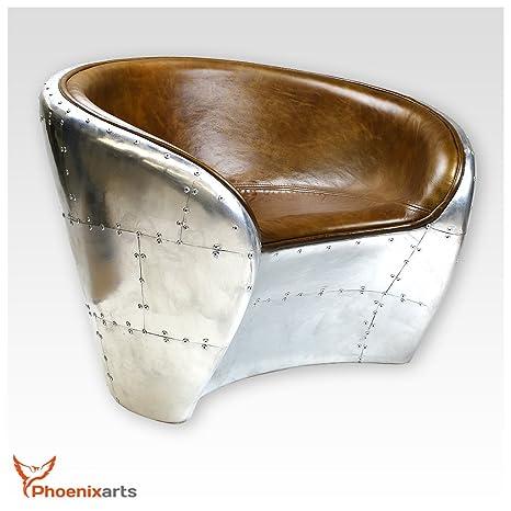 Vintage Echtleder Schalensessel Design Ledersessel Retro Lounge Sessel Braun - industrie design 709