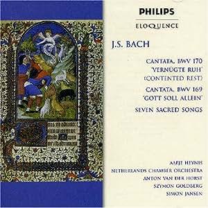J.S Bach : Cantatas BWV 170 et 169 - 7 Chants sacrés
