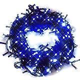 iimono117 イルミネーション LED 屋外 300灯 300球 連結 可能 防水 防滴型 8パターン 点灯 コントローラー付 全長 約10.5~11m クリスマス (ブルー) /2000球まで連結可能