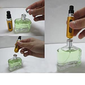 Topseller 5ml Portable Mini Refillable Perfume Atomizer Bottle for Travel Spray Scent Pump Case Multicolor - 8 Pack (Color: multicolor)